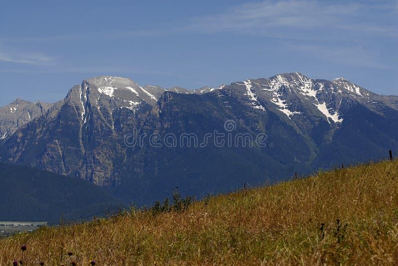 Vallies dedans au nord de Missoula/du Montana photographie stock