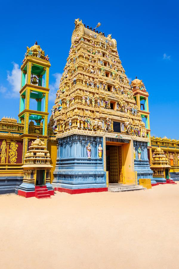 Vallipuram Alvar Vishnu寺庙 免版税库存图片