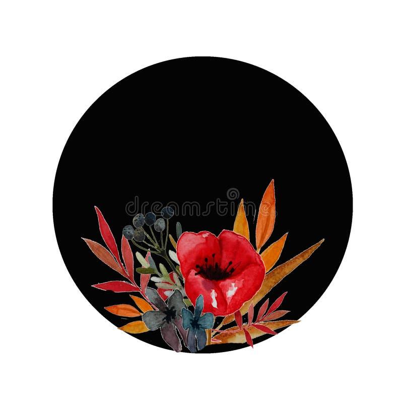 Vallmon blommar illustrationen stock illustrationer