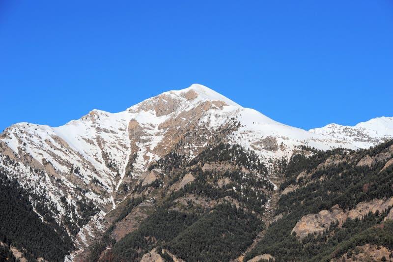 Vallnord, горы покрытые с снегом, княжество Андорры, Европы стоковое фото