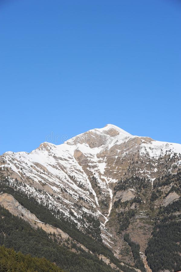 Vallnord baśniowe góry, Europa ksiąstewko Andorra wschodni Pyrenees sektor narciarstwo kumpel zdjęcia royalty free