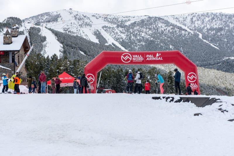 Vallnord gondoli dźwignięcie ośrodek narciarski kumpel, los angeles Massana, Andorra zdjęcia stock
