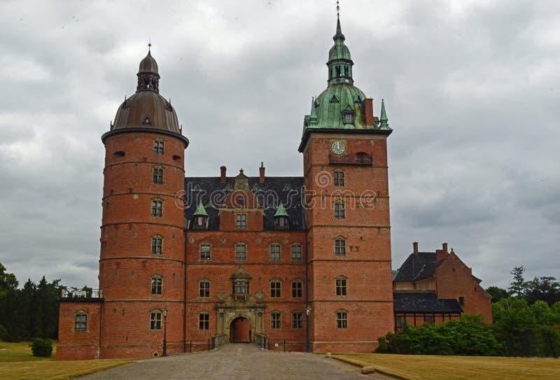Vallokasteel, Denemarken stock foto