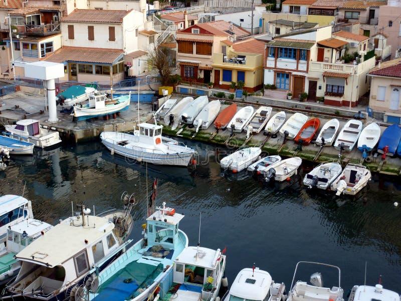Vallon des Auffes haven, Marseille, Frankrijk stock fotografie