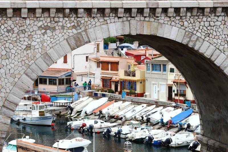 Vallon des Auffes, part of Marseille, France royalty free stock photos