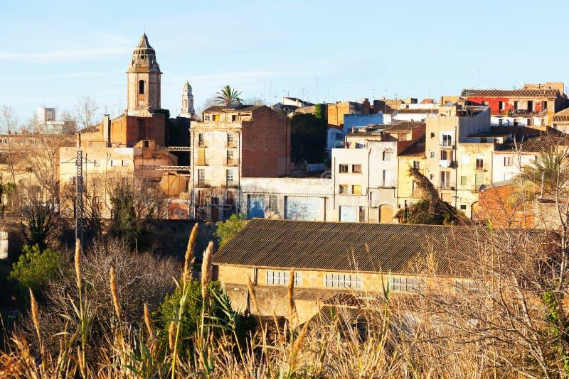 Valls no inverno. Tarragona foto de stock