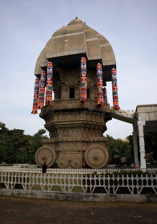 Valluvar Kottam w Chennai, India jest rydwan kształtującym pomnikiem dedykującym Tamilska poeta Tiruvalluvar zdjęcia stock