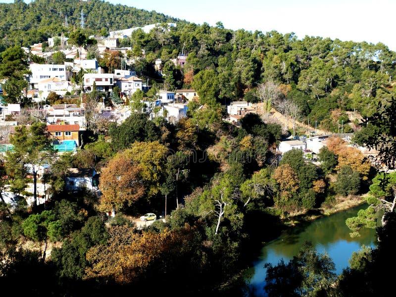 Vallvidrera village royalty free stock images