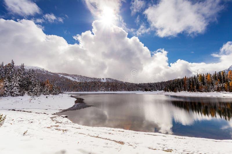Valmalenco - Valtellina IT - Lake Palù in winter season. Valmalenco - Valtellina IT - Lake Pal stock photo