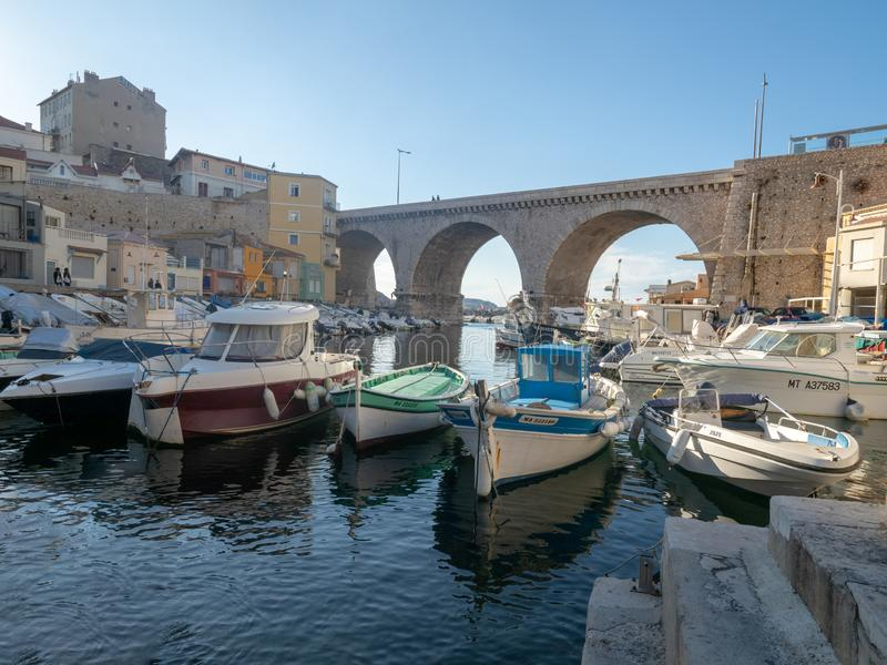 Valon des Aufes in Marseille, Frankrijk stock afbeelding