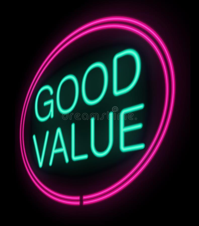 Valor-custo. ilustração do vetor