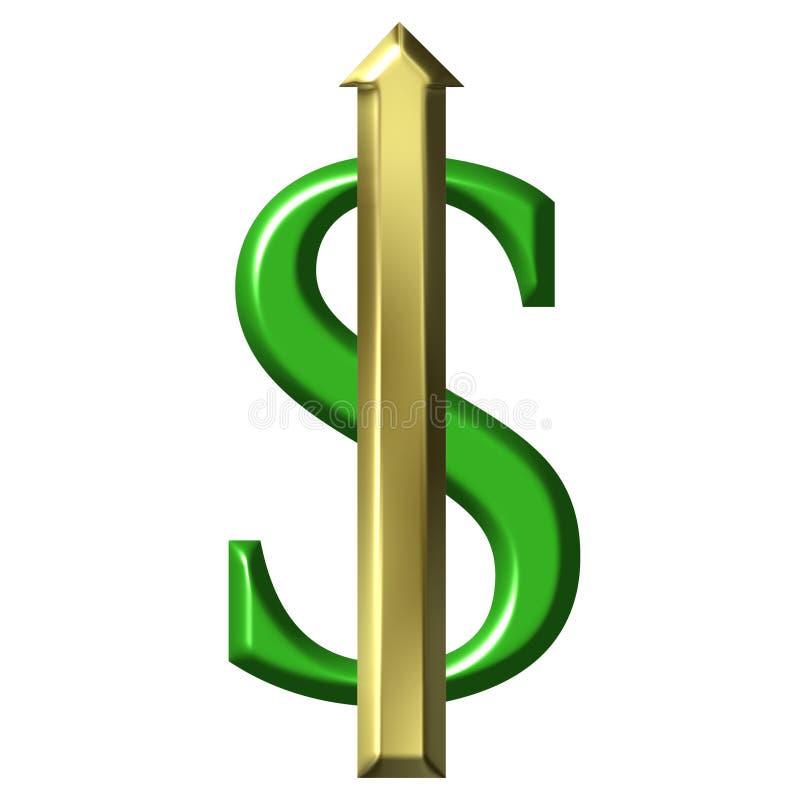 Valor de aumento do dólar ilustração do vetor