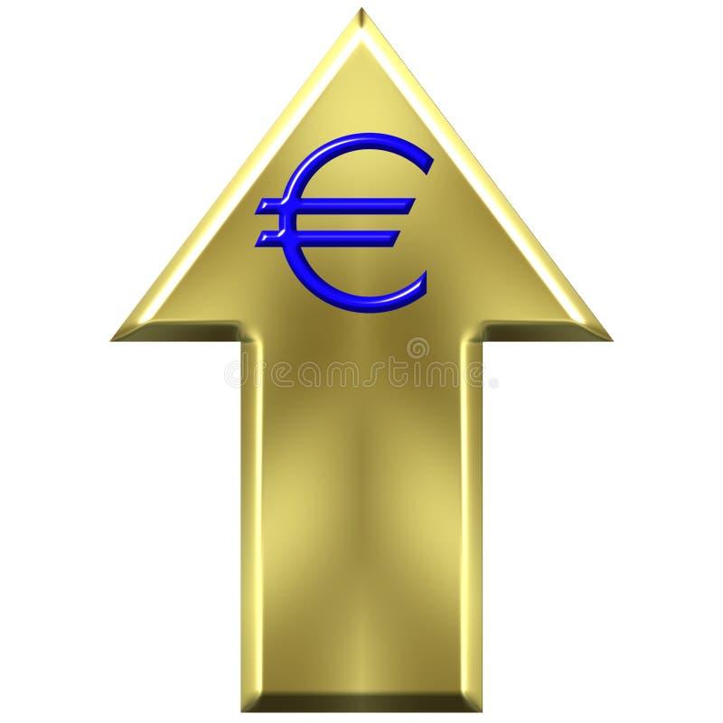 Valor de aumento euro del dinero en circulación ilustración del vector