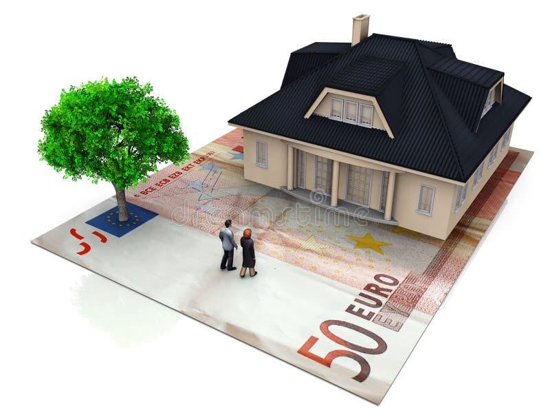Valor de bens imobiliários ilustração do vetor