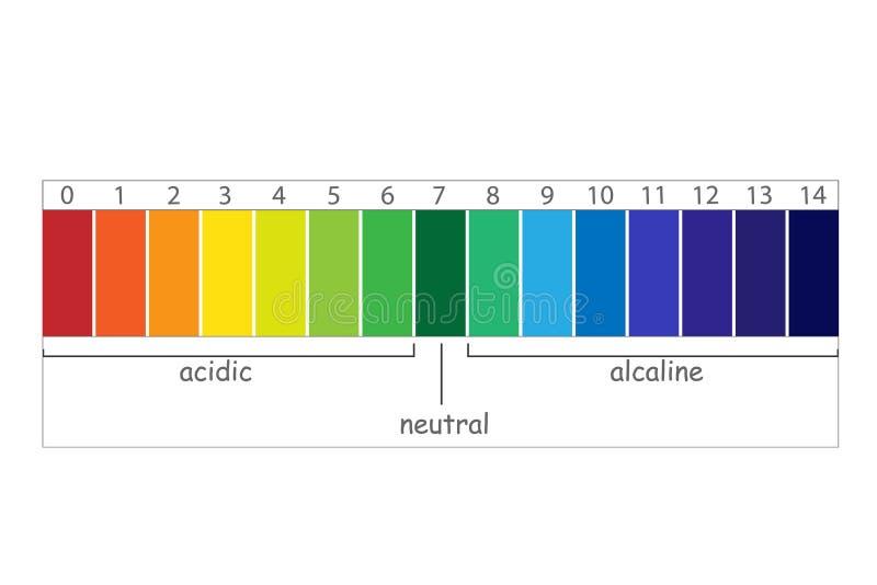 Valor de escala do PH ilustração stock