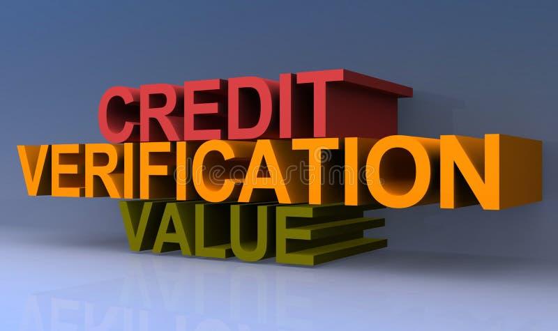 Valor de la verificación del crédito stock de ilustración