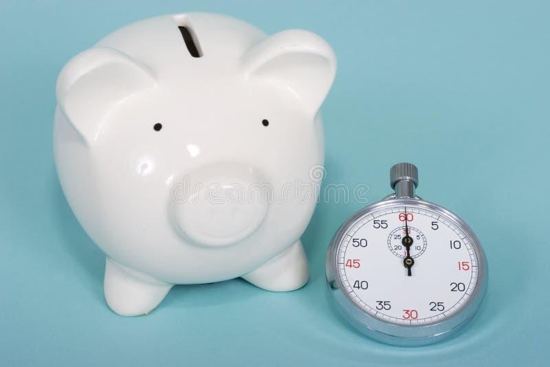 Valor de tiempo del dinero imagen de archivo