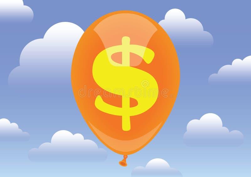 Valor do dólar ilustração do vetor