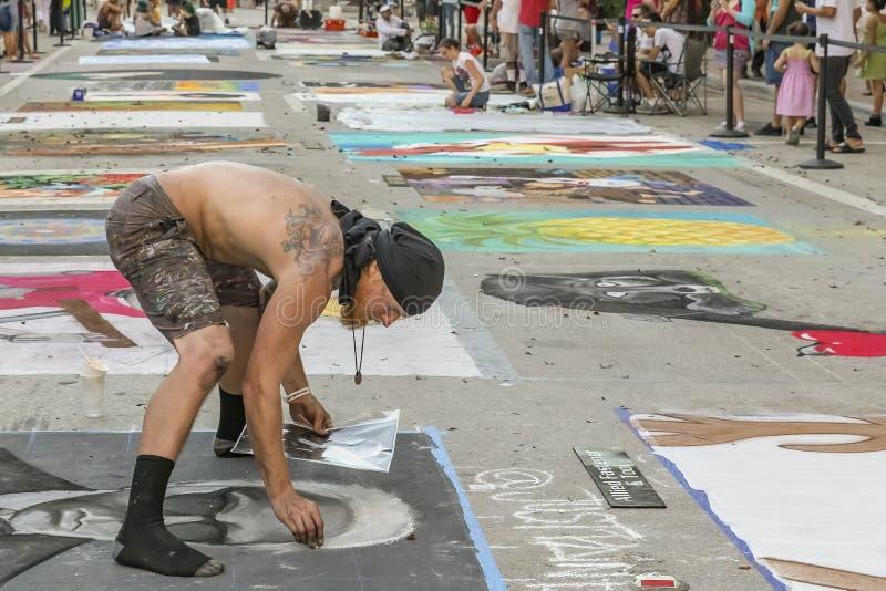 Valor do lago, Florida, EUA 23-24 fabuloso, 25o festival anual da pintura da rua 2019 fotos de stock royalty free