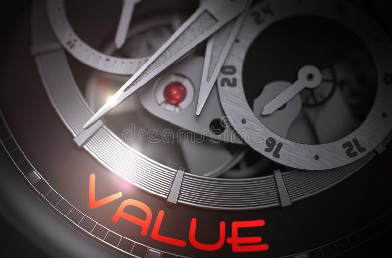 Valor en mecanismo mecánico del reloj de bolsillo 3d libre illustration