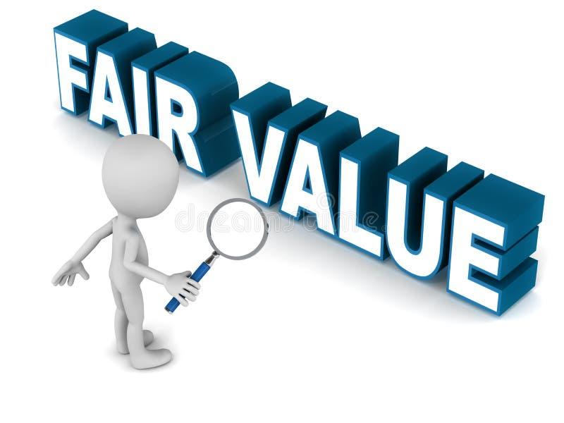 Valor justo ilustração do vetor