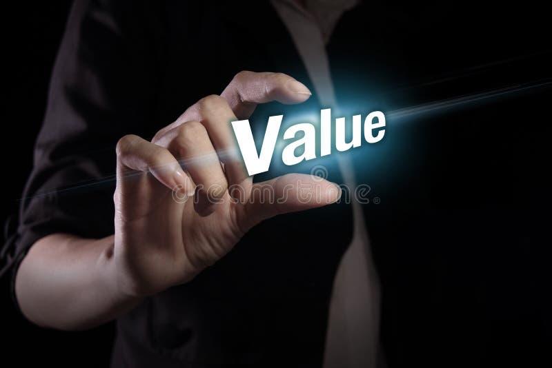 Valor na tela virtual fotografia de stock royalty free