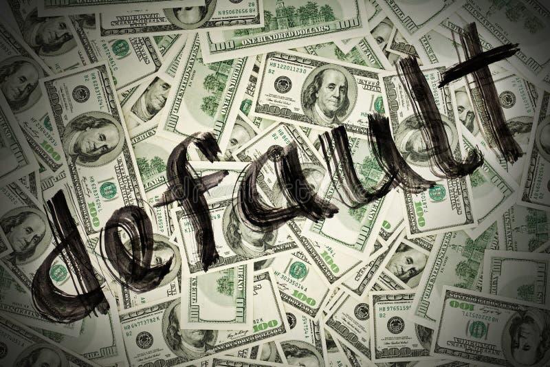 Valor por defecto del dinero en circulación del dólar de los E.E.U.U. fotos de archivo libres de regalías