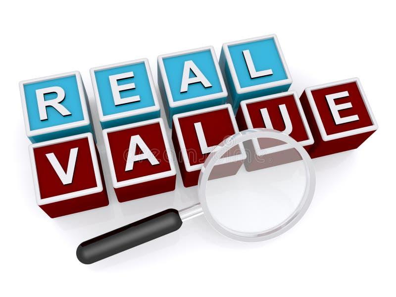 Valor real ilustração royalty free