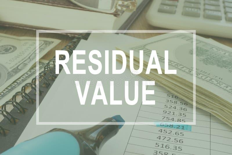 Valor residual Tabela do escritório com originais de negócio fotos de stock royalty free