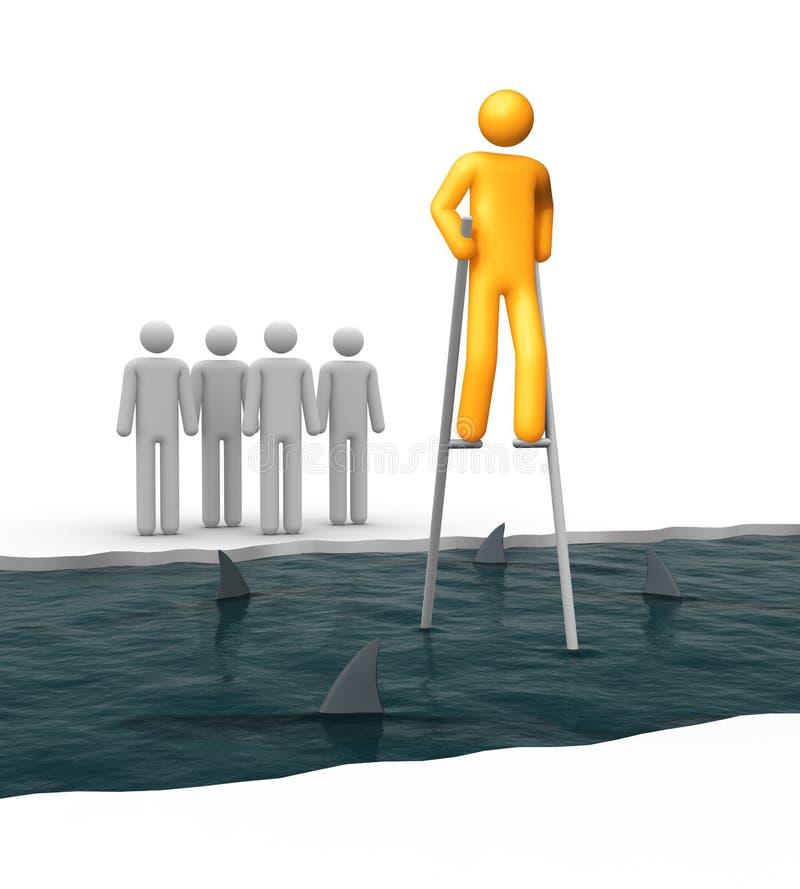 Valor, riesgo y éxito stock de ilustración