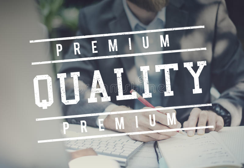 Valor superior de la norma de calidad digno de concepto gráfico fotos de archivo libres de regalías