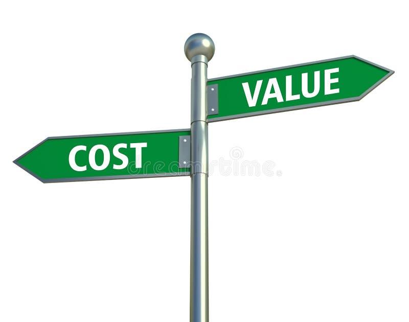 Valor y coste libre illustration