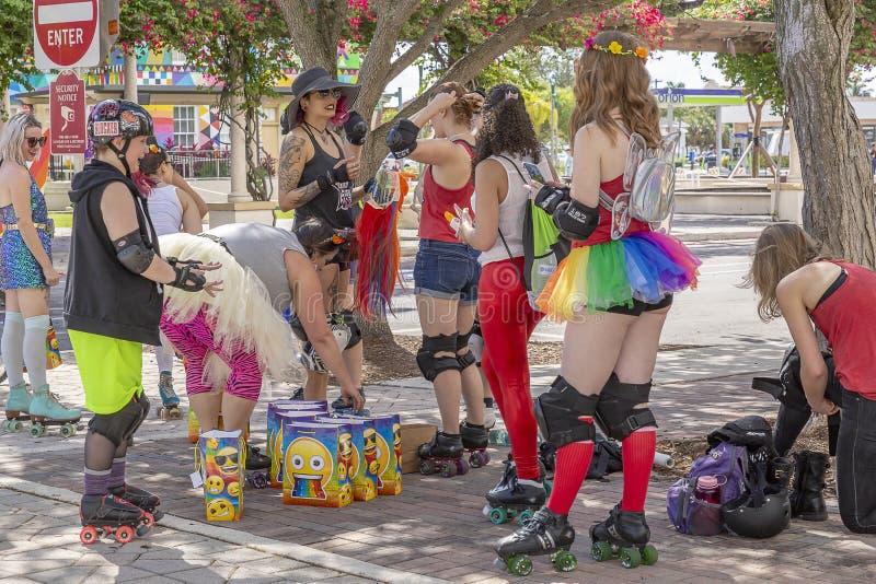 Valore del lago, Florida, U.S.A. 31 marzo 2019 prima, Palm Beach Pride Parade immagine stock