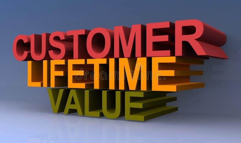 Valore di vita del cliente illustrazione vettoriale