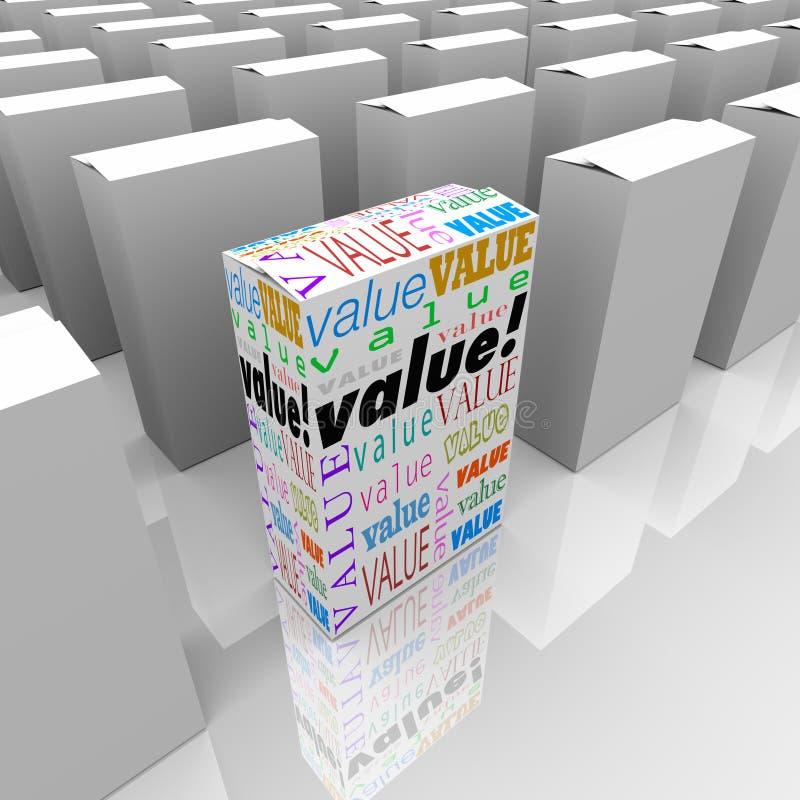 Valore muchas cajas un diverso comparar digno de coste libre illustration