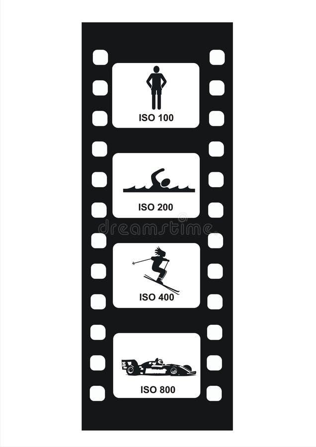 Valores 3 de la ISO stock de ilustración