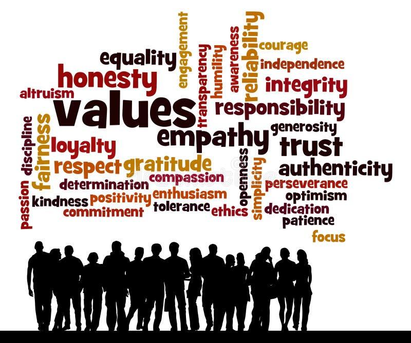 Valores dos povos ilustração stock