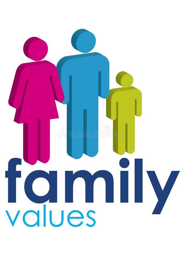 Valores familiares ilustração stock