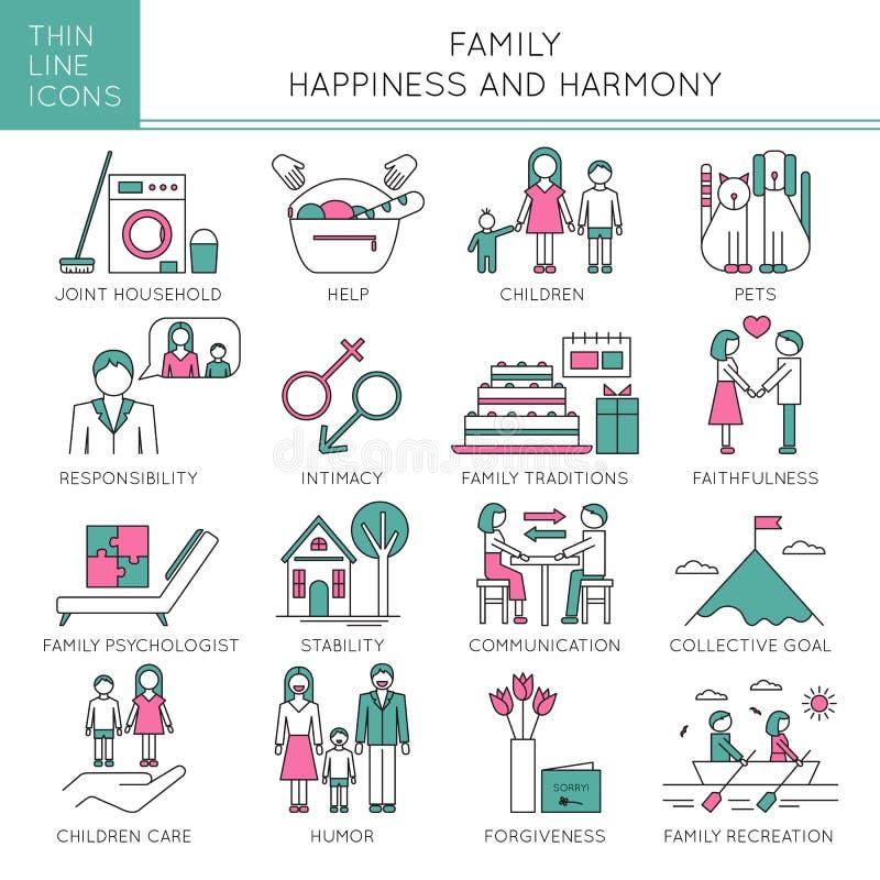 Valores familiares ajustados ilustração royalty free