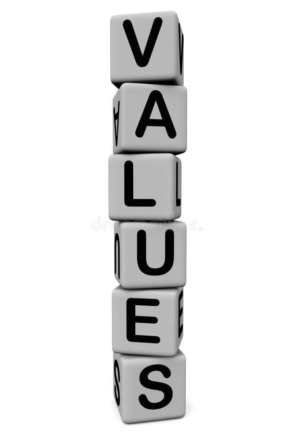 Valores ou sistema de valor ilustração do vetor