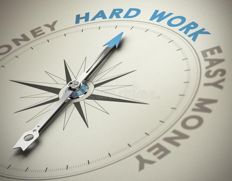 Valores personales - concepto del trabajo duro ilustración del vector