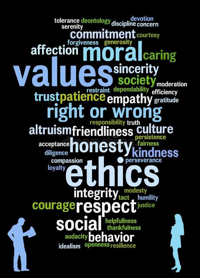 Valores y los éticas stock de ilustración