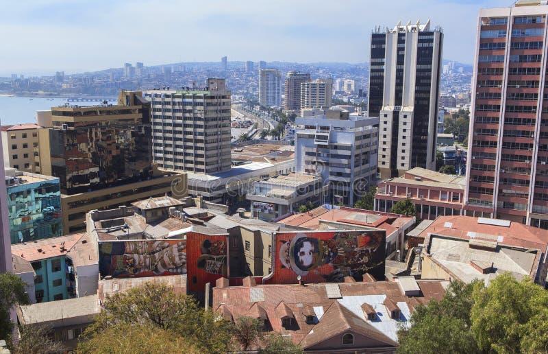 ValparaÃso市街道画艺术在智利 图库摄影