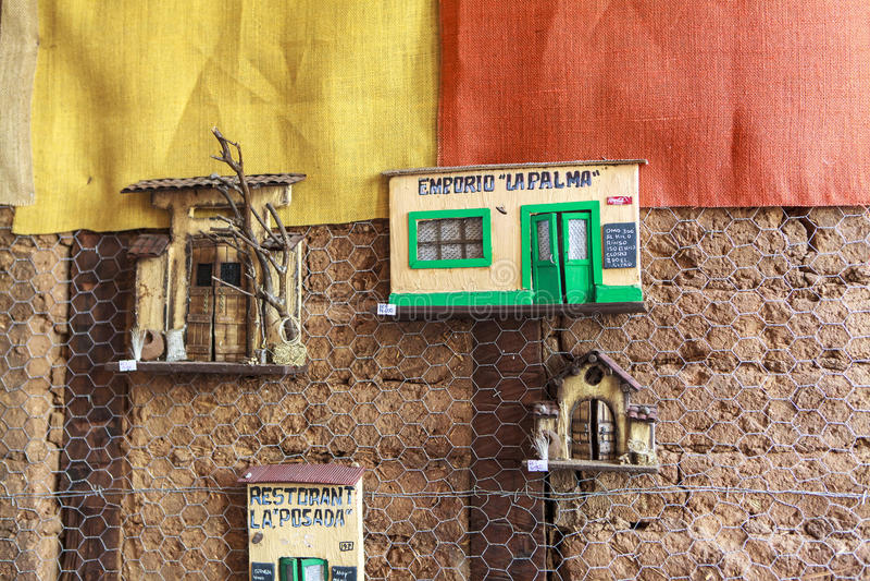 ValparaÃso市街道画艺术在智利 免版税库存照片
