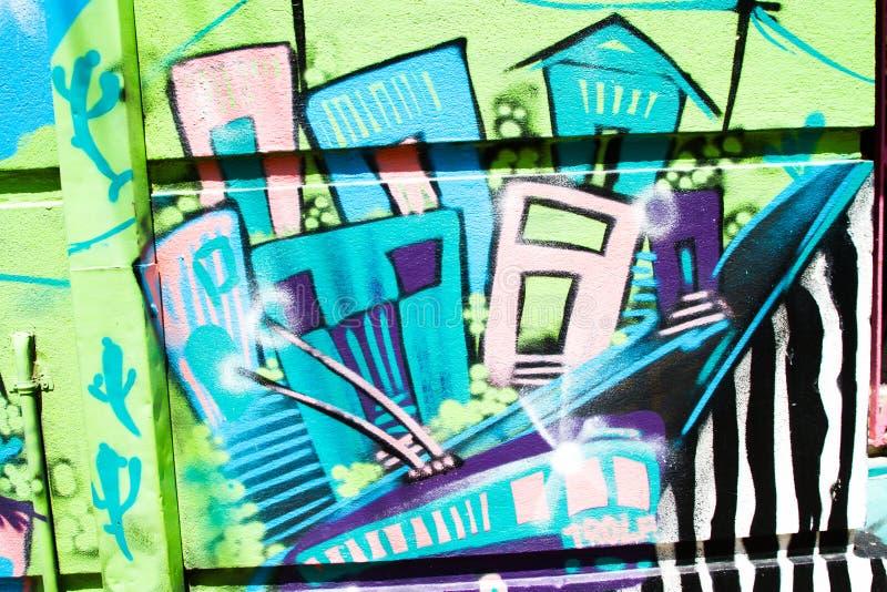 Valparaiso färgglade hus arkivfoto