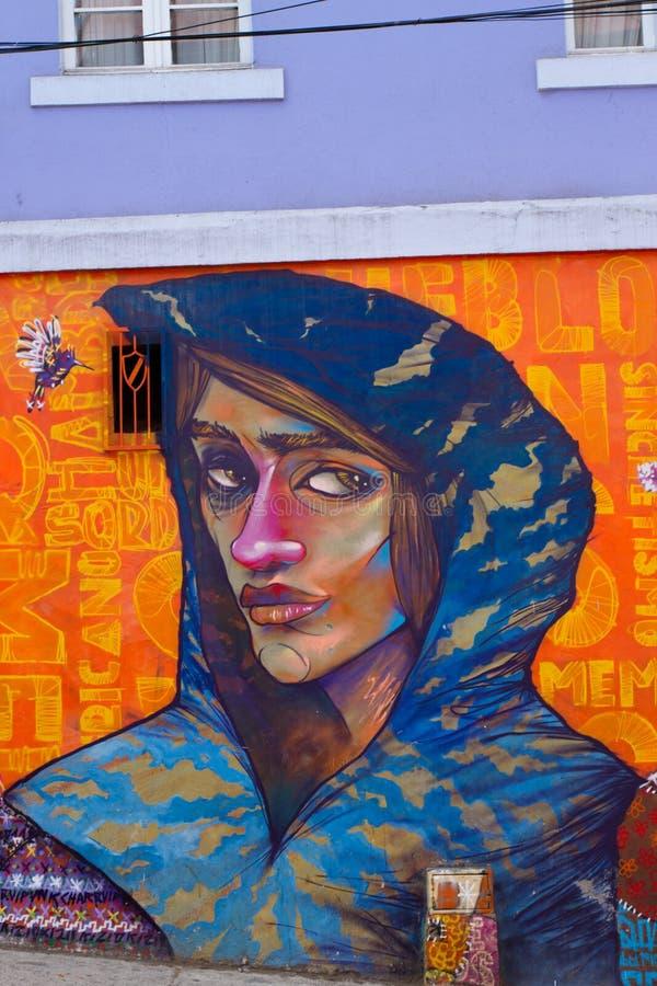 Valparaiso gata Art Graffiti arkivfoton