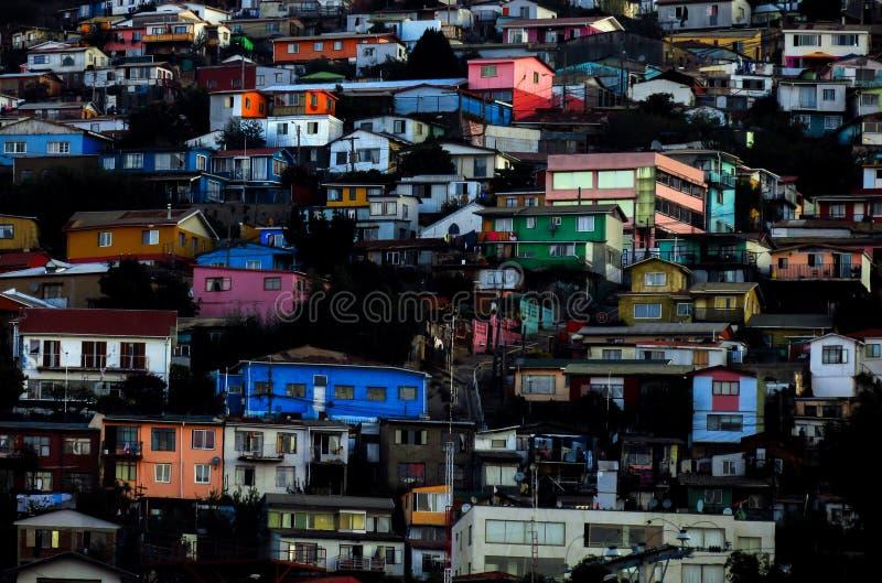 VALPARAISO KOLOROWY miasto W CHILE zdjęcia royalty free