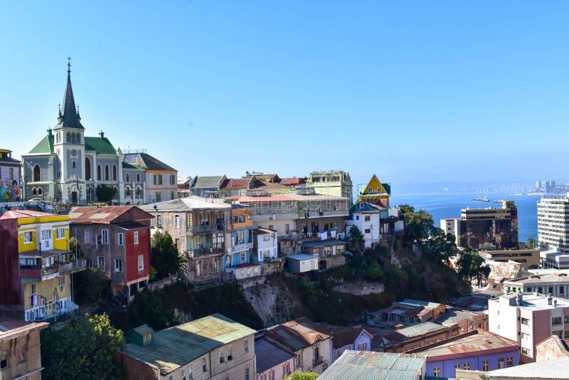 Valparaiso na jasnym dniu zdjęcie royalty free