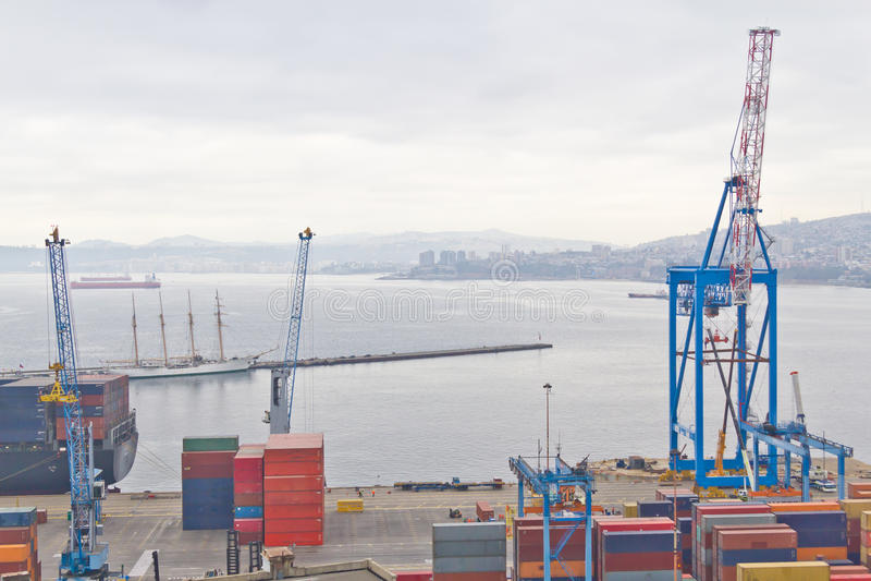 Valparaisohaven stock foto