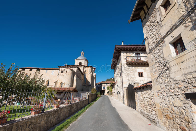 Valpuesta-Dorf und altes Kloster, Ursprung des spanischen L lizenzfreies stockbild